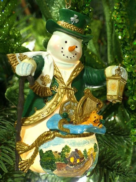 decorating an irish themed christmas tree amazing