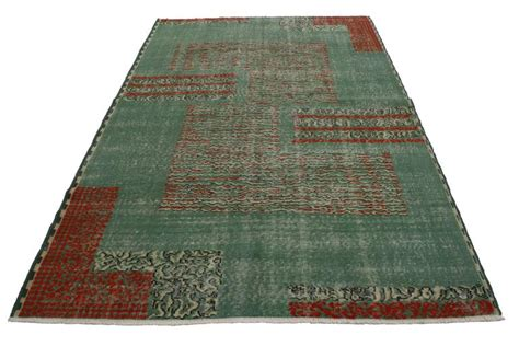 rug psychology distressed vintage turkish sivas rug with modern industrial deco style for sale at 1stdibs