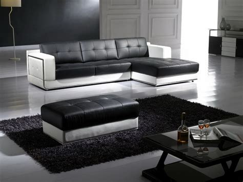 Black And White Top Graded Real Leather Corner Sofa Suite Black And White Leather Corner Sofa