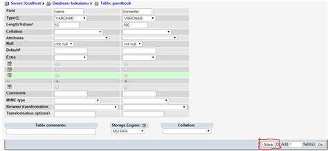 membuat database buku tamu dengan xp tutorial lengkap membuat buku tamu sederhana dengan php