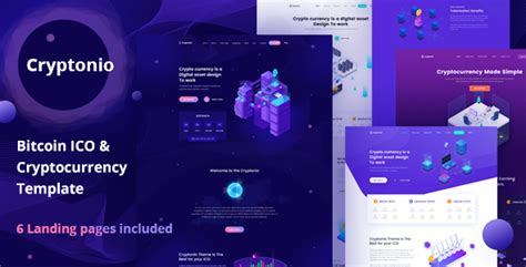 Cryptonio Bitcoin Ico Cryptocurrency Landing Page Html Template Download Cryptonio Bitcoin Cryptocurrency Html Template Free