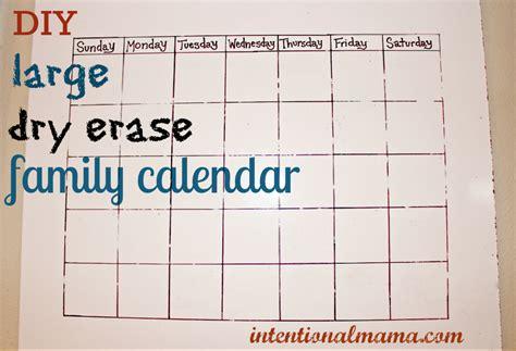how to make a calendar on your whiteboard diy erase family calendar great for classrooms