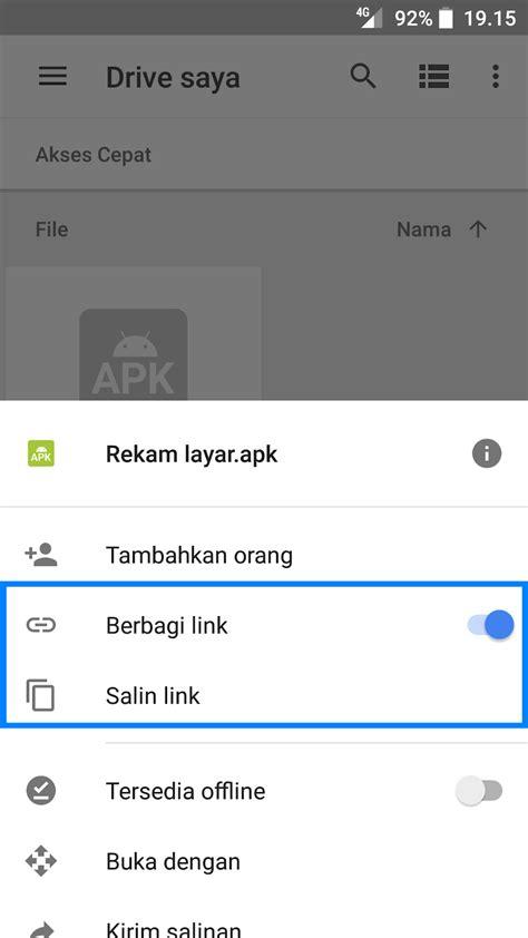 Cara Membuat Link Download Google Drive Melalui Smartphone