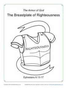 breastplate of righteousness template breastplate of righteousness coloring page armor of god