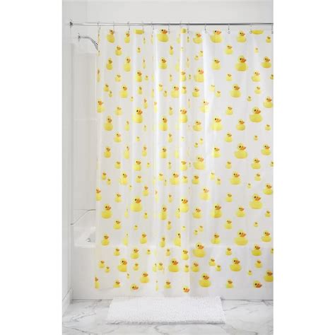 Youth Shower Curtains Rubber Duck Bath Theme The Best Quality Home Design
