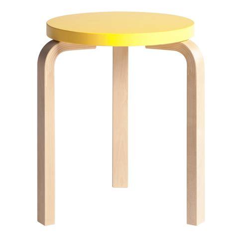 sgabello alvar aalto artek sgabello aalto 60 giallo betulla design