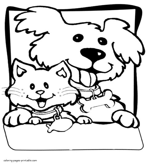 printable coloring pages of cats and dogs printable coloring pages of cats and dogs cat and dogs