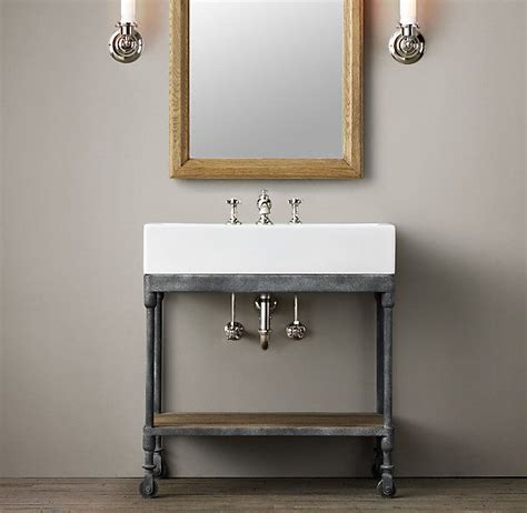 Industrial Bath Vanity by Industrial Console Powder Room Vanity Also Need To