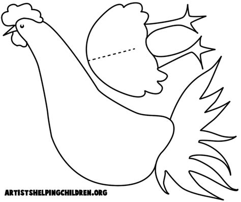 chicken template chicken crafts for make your own arts and crafts