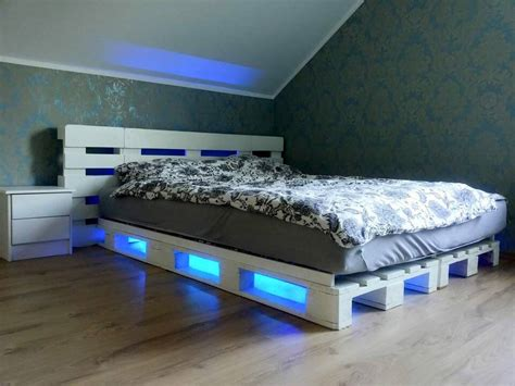 pallet bed with lights pallet bed with under lights 101 pallets