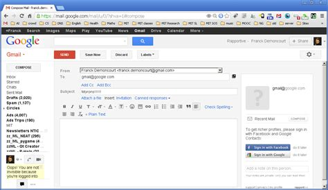 How To Search In Gmail Display Recipient List To And Cc While Composing In Gmail Web Applications