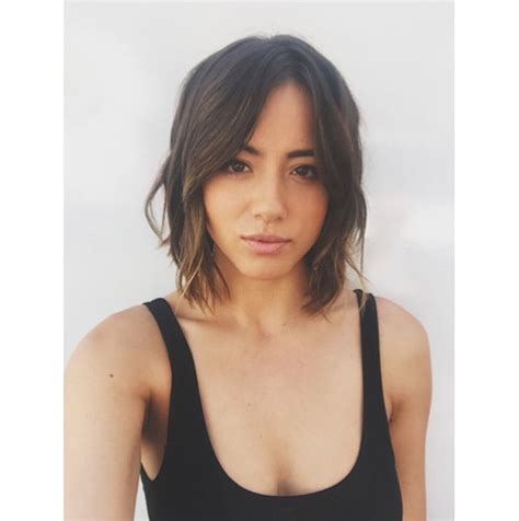 haley bennett agent chloe bennet shows off her new look for agents of s h i e