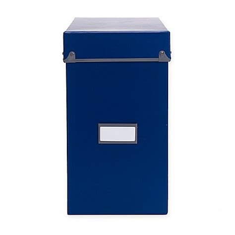 bed bath and beyond frisco frisco file box in navy grey bed bath beyond