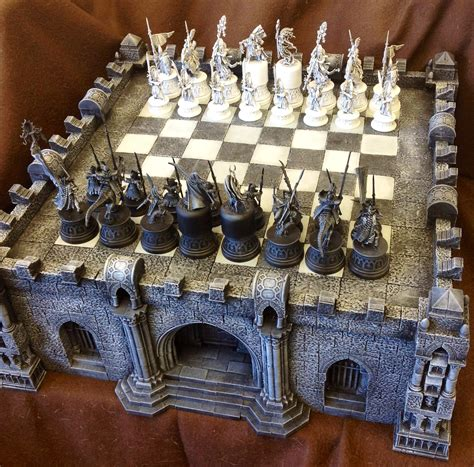 Fantasy Chess Set Coolminiornot Gothic Chess Set By Ojoj