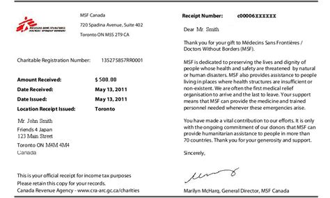Rent Letter For Cra 5 Frequently Requested Receipts From Canada Revenue Agency Newmarket Certified Professional