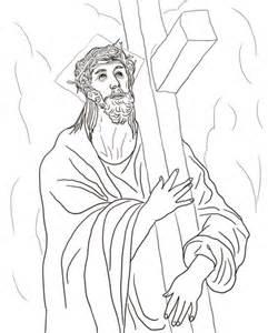 Jesus Carrying His Cross Car Tuning sketch template