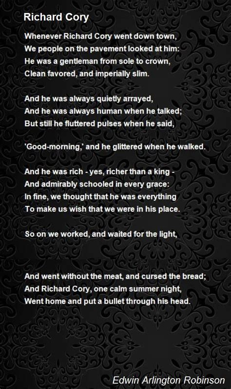 1471149145 you me everything a richard richard cory poem by edwin arlington robinson poem hunter