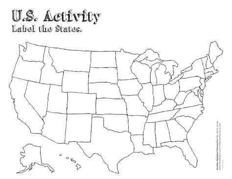 printable us map outline free simple united states outline coloring pages