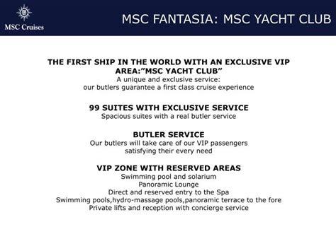 powerpoint templates yacht club ppt msc fantasia msc yacht club powerpoint presentation