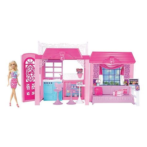 barbie vacation house barbie pink tastic glam vacation house doll gift set ebay