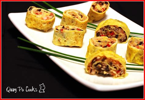 new year egg roll meaning quay po cooks egg roll with many symbols for new year