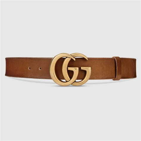 Guc Ci Leather Brown gucci gucci brown leather belt with g