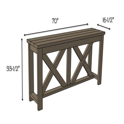sofa table dimensions laredo sofa table by gallery