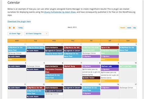 Calendar Plugin Calendar Plugins For For Cultural Listings Site