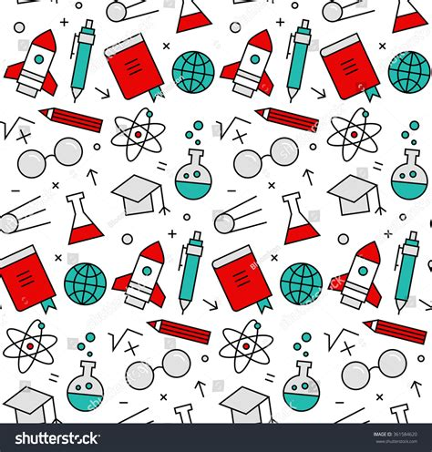 vector pattern recognition modern line icons seamless pattern texture stock vector