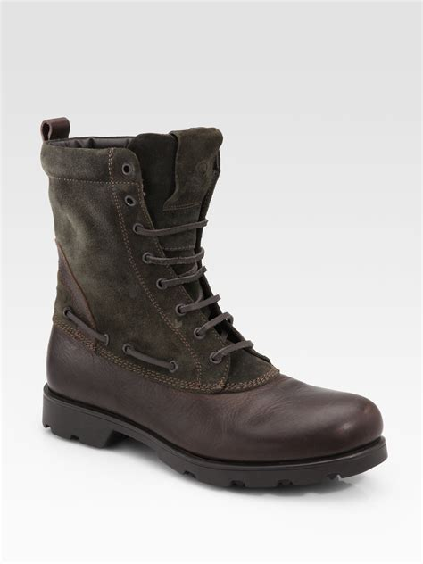 mens moncler boots moncler montreal boot in brown for lyst