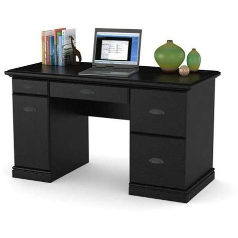 computer desk workstation table modern executive wood