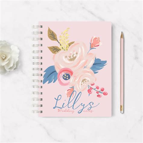 Wedding Notebook by Personalised Wedding Notebook Blossom By Summery