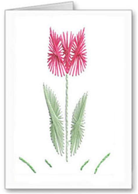 tulip template card tulip stitching card pattern