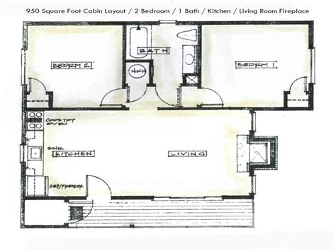 Two Bedroom Cottage Floor Plans Small Two Bedroom Cabin Two Bedroom Cabin Floor Plans Two Bedroom Cabin Plans Mexzhouse