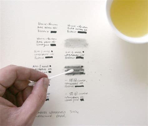 Remove Ink From by How To Remove Ink From Watercolour Paper Lemon Juice
