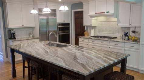 White Washed Oak Kitchen Cabinets fantasy brown quartzite modern kitchen