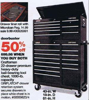 black friday tool cabinet deals sears black friday 2010 tool deals