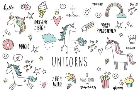 doodle poll ifneedbe doodle unicorn lettering patch illustrations