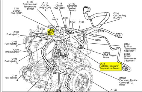 2003 ford escape engine diagram where is fuel rail sensor on 2005 ford escape and how do i