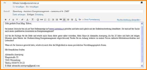 Anlagen Bewerbung Per E Mail 8 Bewerbung Email Muster Resignation Format