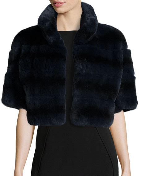 Jaket Rabbit Gray gorski horizontal rabbit fur jacket gray