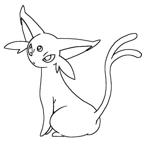 Pokemon Espeon Coloring Pages Images Pokemon Images Espeon Coloring Pages