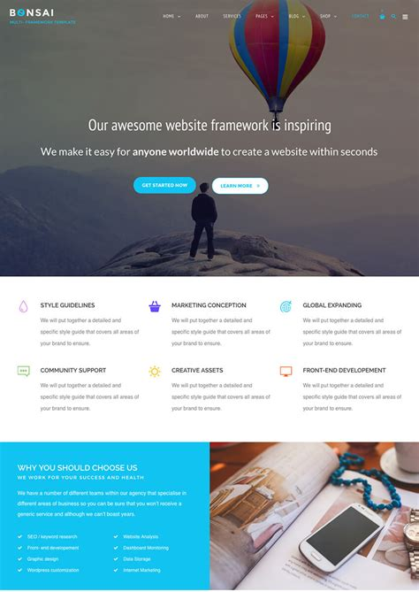 prettyphoto themes 20 best agency wordpress themes for creative site