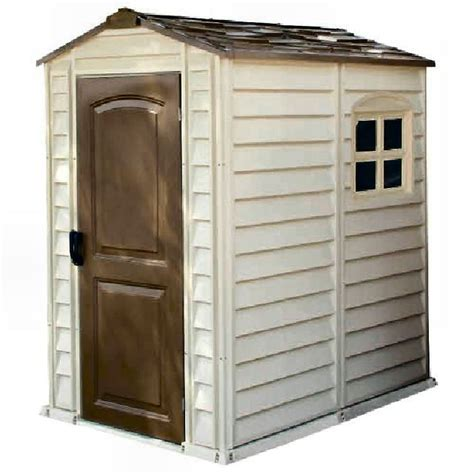 Duramax Plastic Shed by Duramax Woodside Plastic Shed 4ft X 6ft Elbec Garden