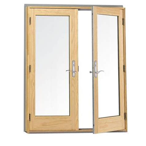 Patio Doors Home Depot Andersen 400 Series Wood Hinged Inswing Patio Door 9117172 The Home Depot