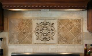 kitchen medallion backsplash hegle tile kitchens tile backsplash medallions and listelles