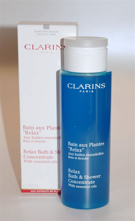 clarins relax bath and shower concentrate clarins relax bath shower concentrate the luxe list