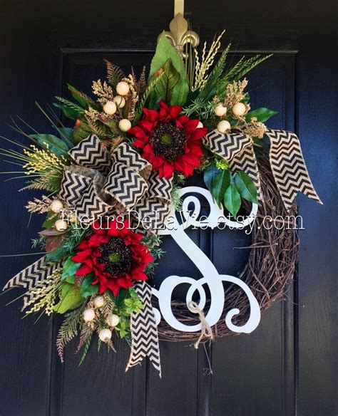 Door Wreaths With Initials by 17 Best Ideas About Initial Door Wreaths On