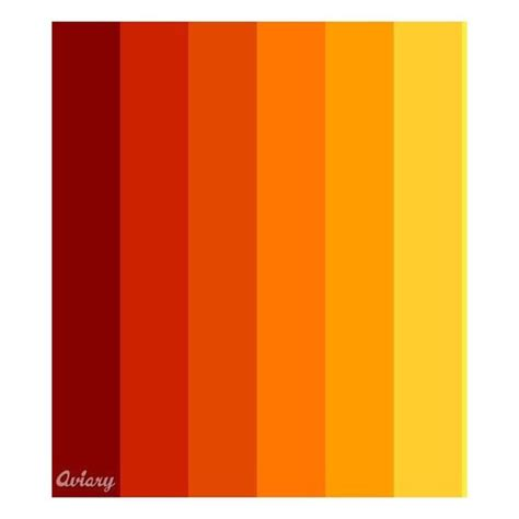 color palette yellow fire red orange yellow palette made in aviary color