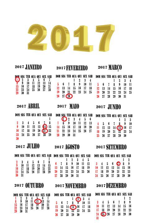 calend 225 2017 feriados para baixar e imprimir toda